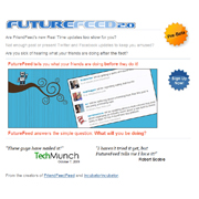 FutureFeed  microblog updates on what your friends will be doing