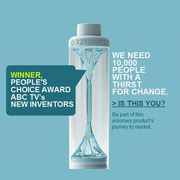 Designer mum launches Crowdfunding model to rid the world of plastic bottles