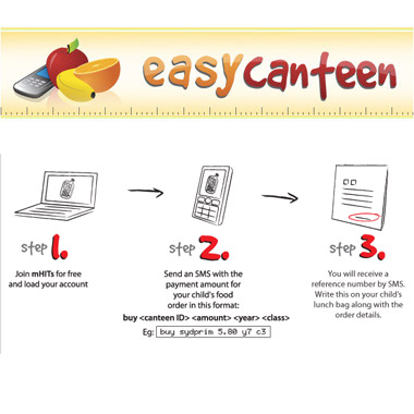 SMS payment for school canteen lunch orders now available via Easy Canteen