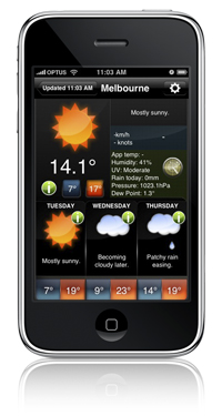 iphone app, apple, weather applications, weather forecasts