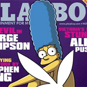 Marge Simpson poses for Playboy (and vote for the Top 10 Most Memorable Magazine Covers of all time)