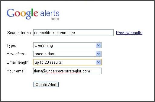 how to set up google news alerts