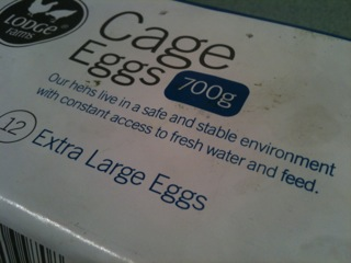 Is this the best or worst piece of marketing you've seen all year? [How to sell 'Cage Eggs']