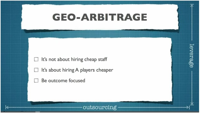 Want to become an outsourcing extremist? Learn how to replace yourself using geo-arbitrage.