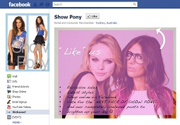 Show Pony Fashion uses social media to make $1M in first year. Who says Australian retail doesn&#039;t understand Facebook?