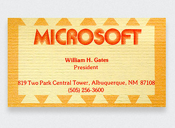 Microsoft-Bill-Gates-Business-Card