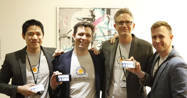 Localz JLAB Pitch Team (L-R Melvin Artemas, Tim Andrew, Martijn Verbree, Pete Williams)