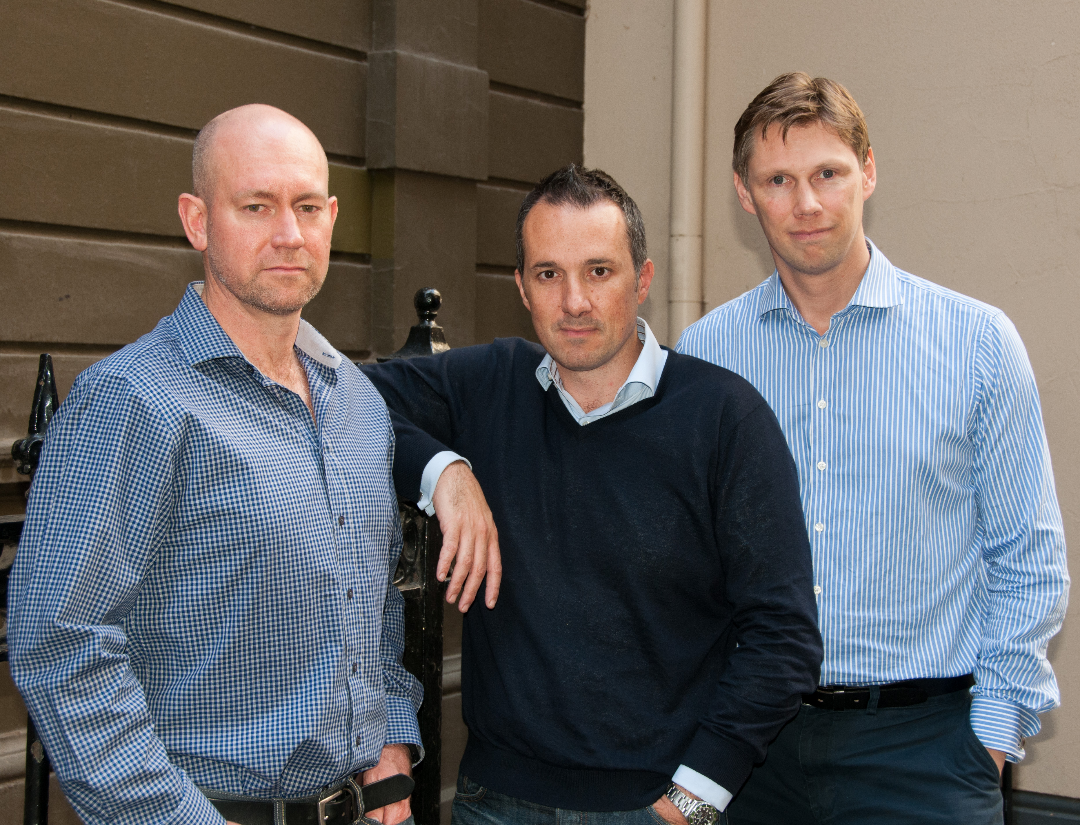 Moula COO Andrew Watt, CEO Aris Allegos and CTO Piers Moller