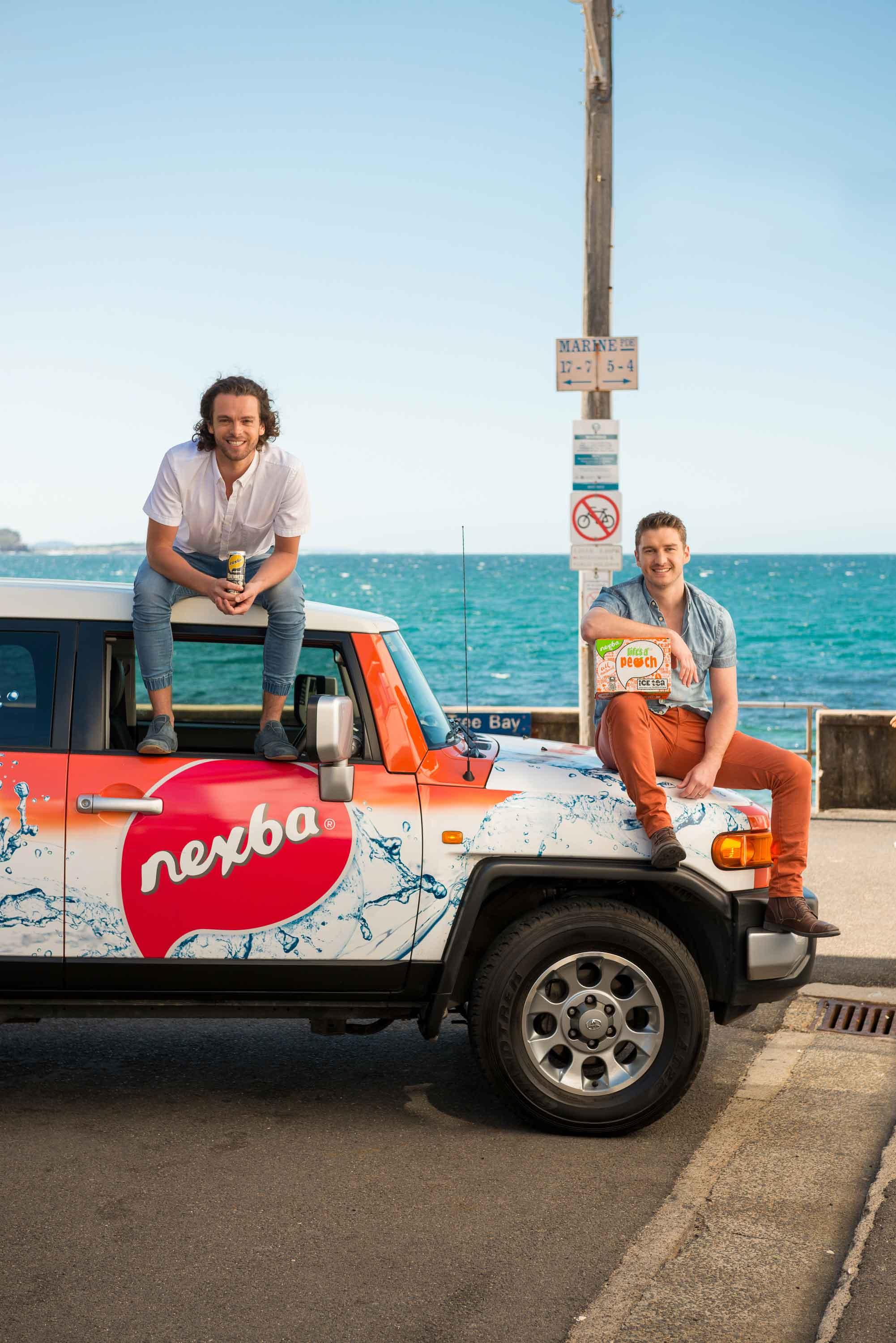 Nexba co-founders Drew-Bilbe-and-Troy-Douglas-Shelley-Beach 2