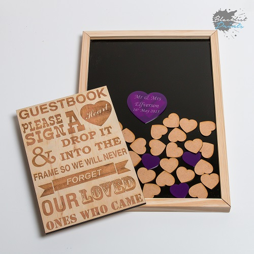 Blacklist Prints - Heart Guest Book Drop Box