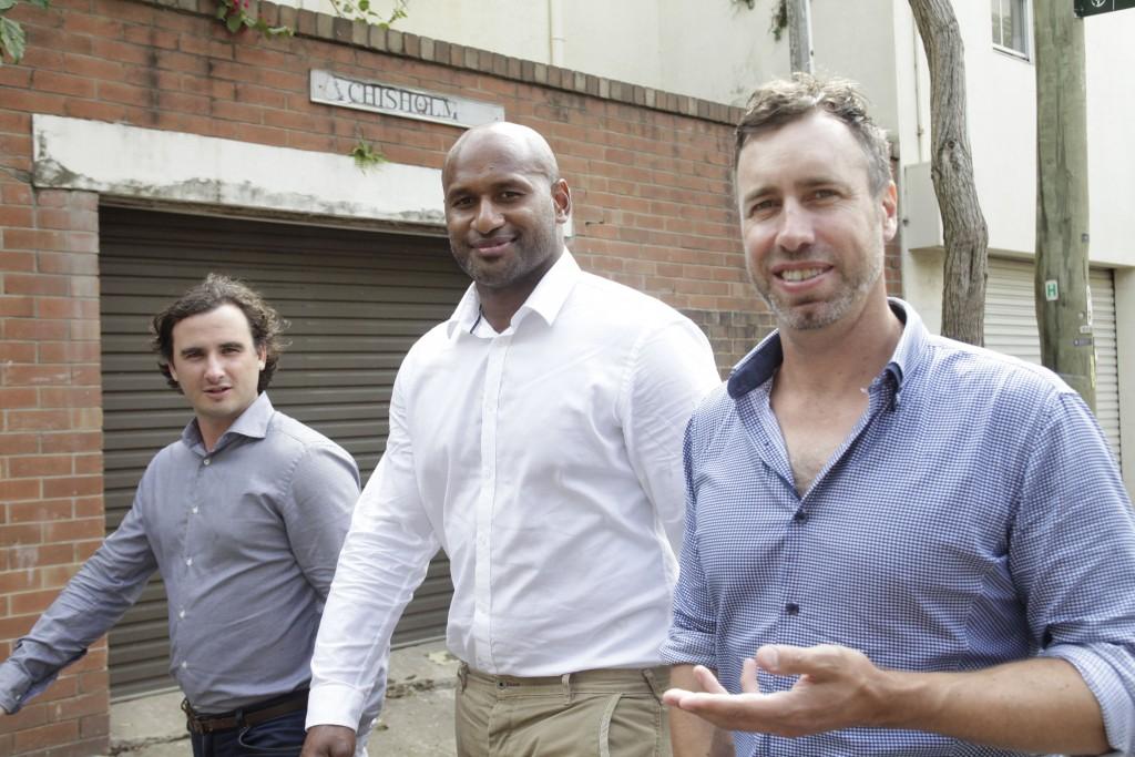 HooZu co-founders Justin Gollege, LoteTuqiri and Nathan Ruff