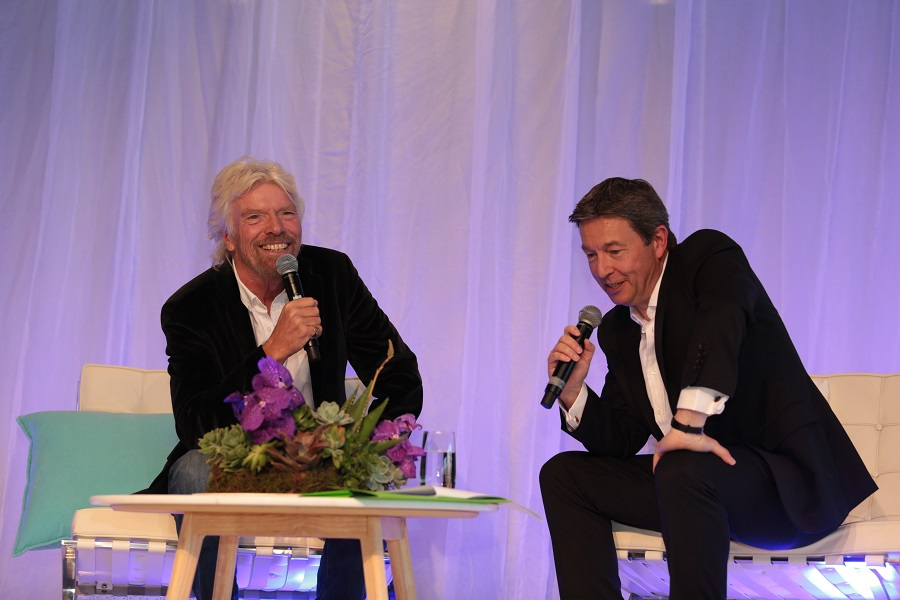 Sir Richard Branson and Talent's Founder and Executive Chairman Richard Earl