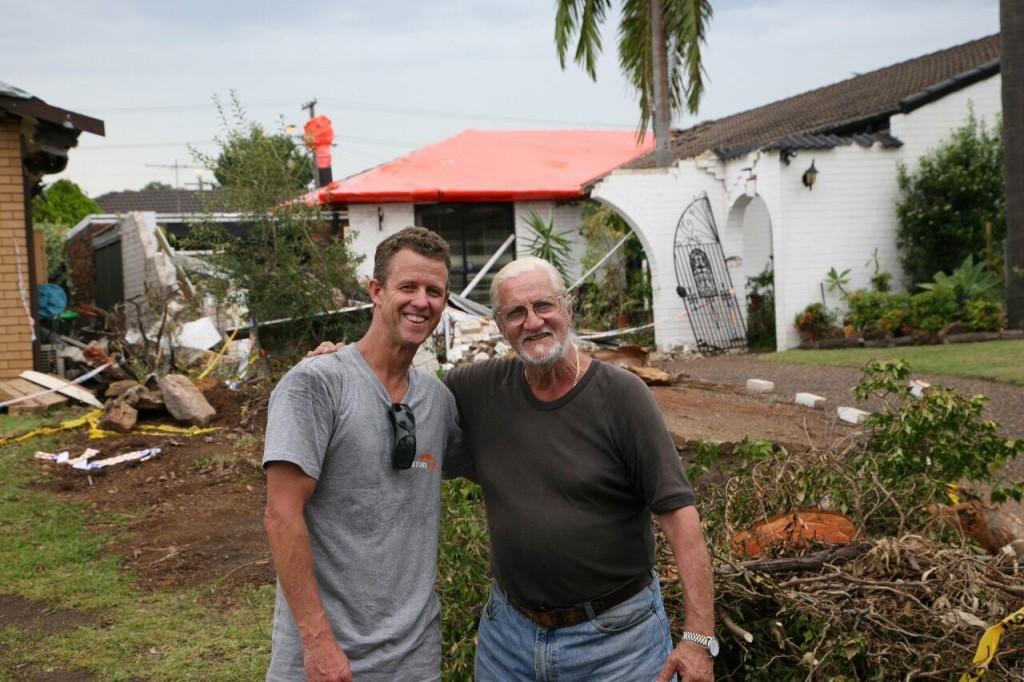 Matthew Lennox with Joe (GIO Policy holder)