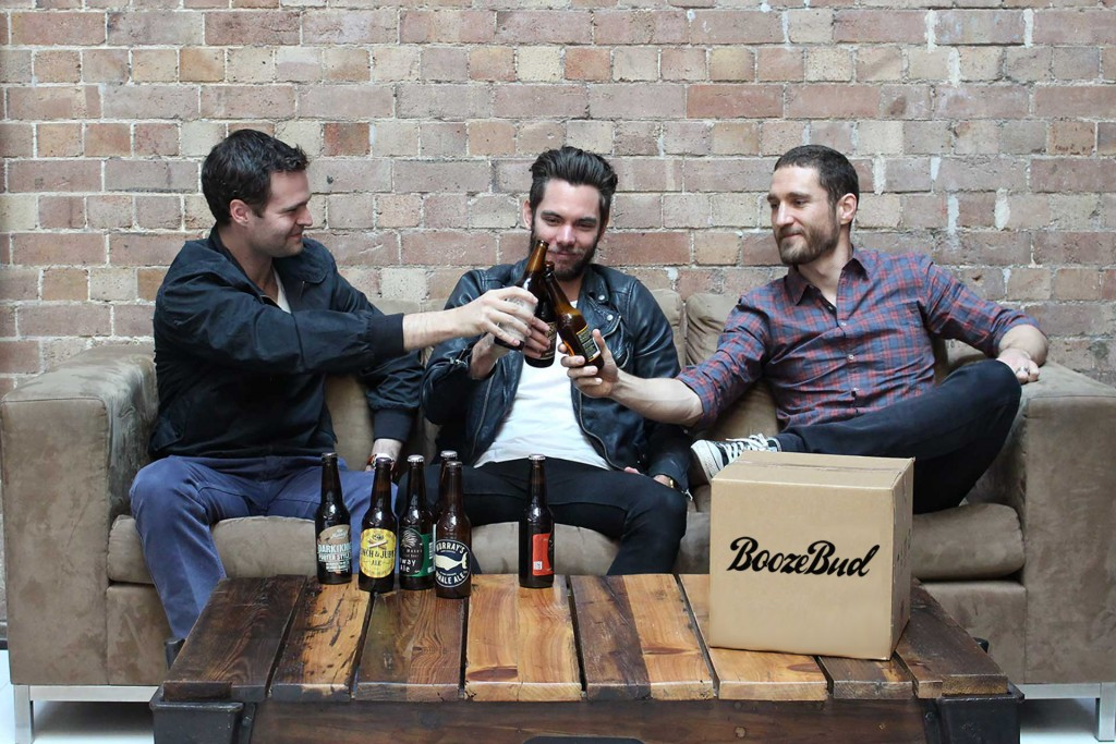 The BoozeBud team: Alex Gale, Andy Williamson and Mark Woollcott
