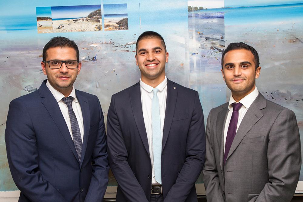 CancerAid co-founders; Doctors Raghav, Nikhil and Rahul