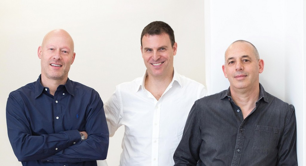 CEO and founder Yanir Yakutiel with Messrs Marc and Gideon Lubotzky