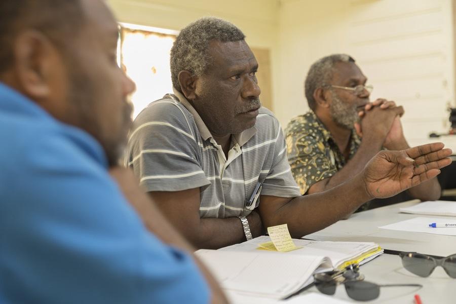 Tanna Coffee Farmers taking part in a TDi workshop