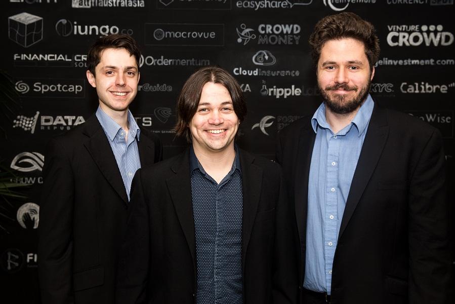 Tapview co-founders James Jansson, Alexey Feigin and Jordan Rastrick