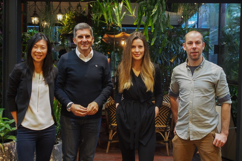 Emily Yue, Danie Petre, Bridget Loudon and James Cameron