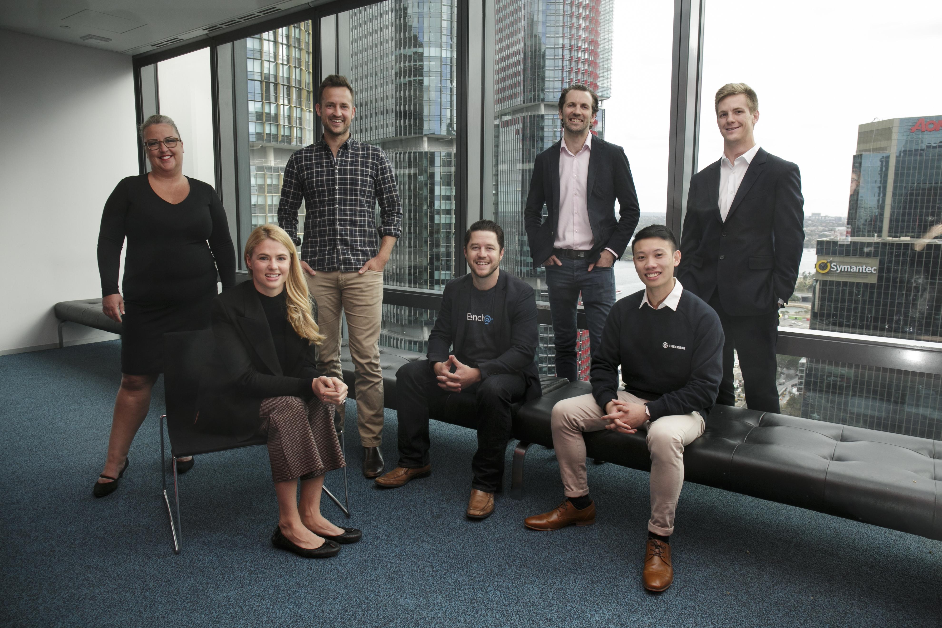 Kate Cooper (Westpac), Samantha Sidwell (Trust Investment Platform), Joel Robbie (Nod) Tim Walmsley (Benchon), Christopher Dyer (Trust Investment Platform), Evan Wong (Checkbox) Alastair Blenkin (Blenktech)