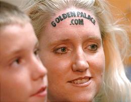 dnews Golden Palace.com forehead tattoo