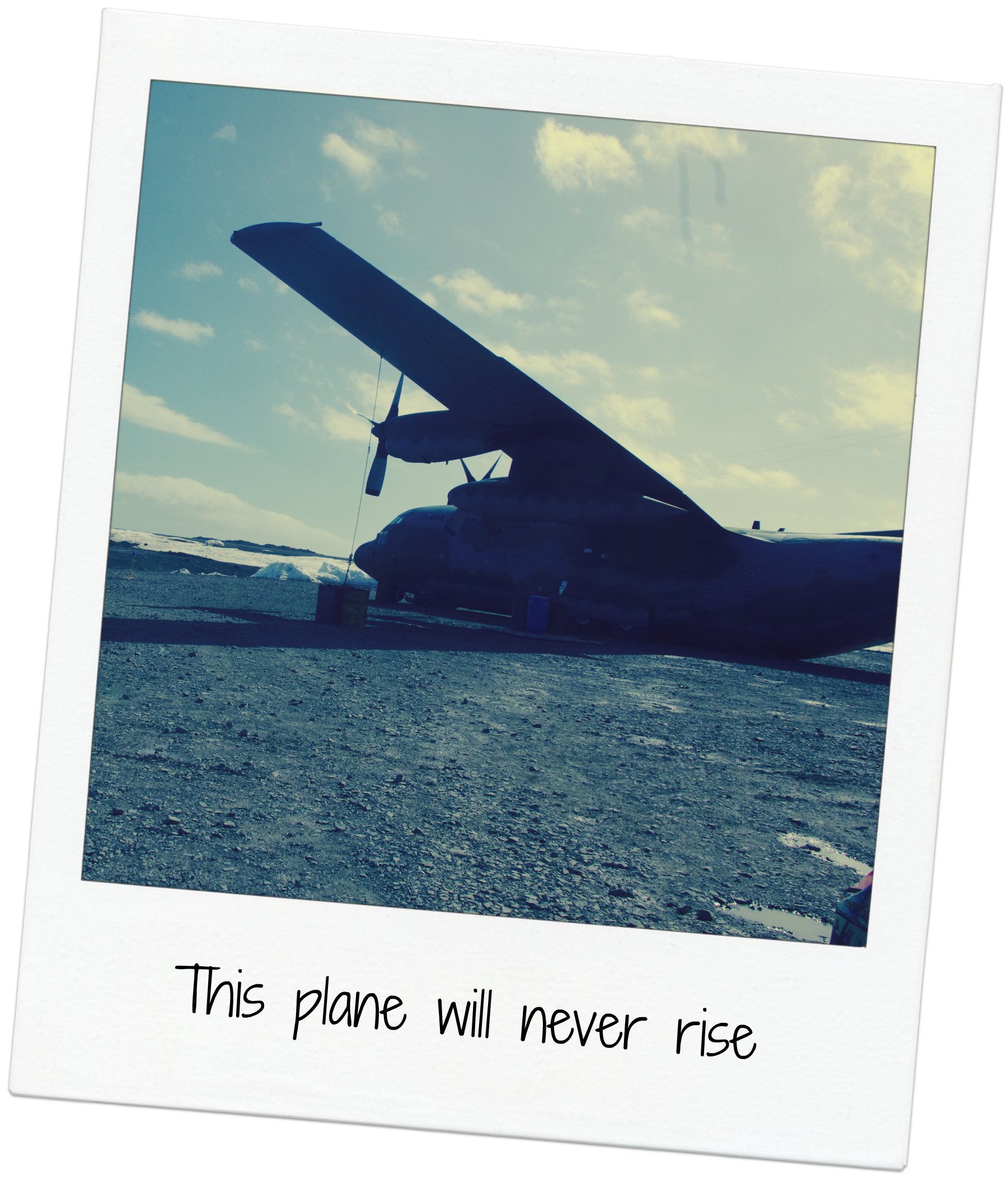 plane on king george island