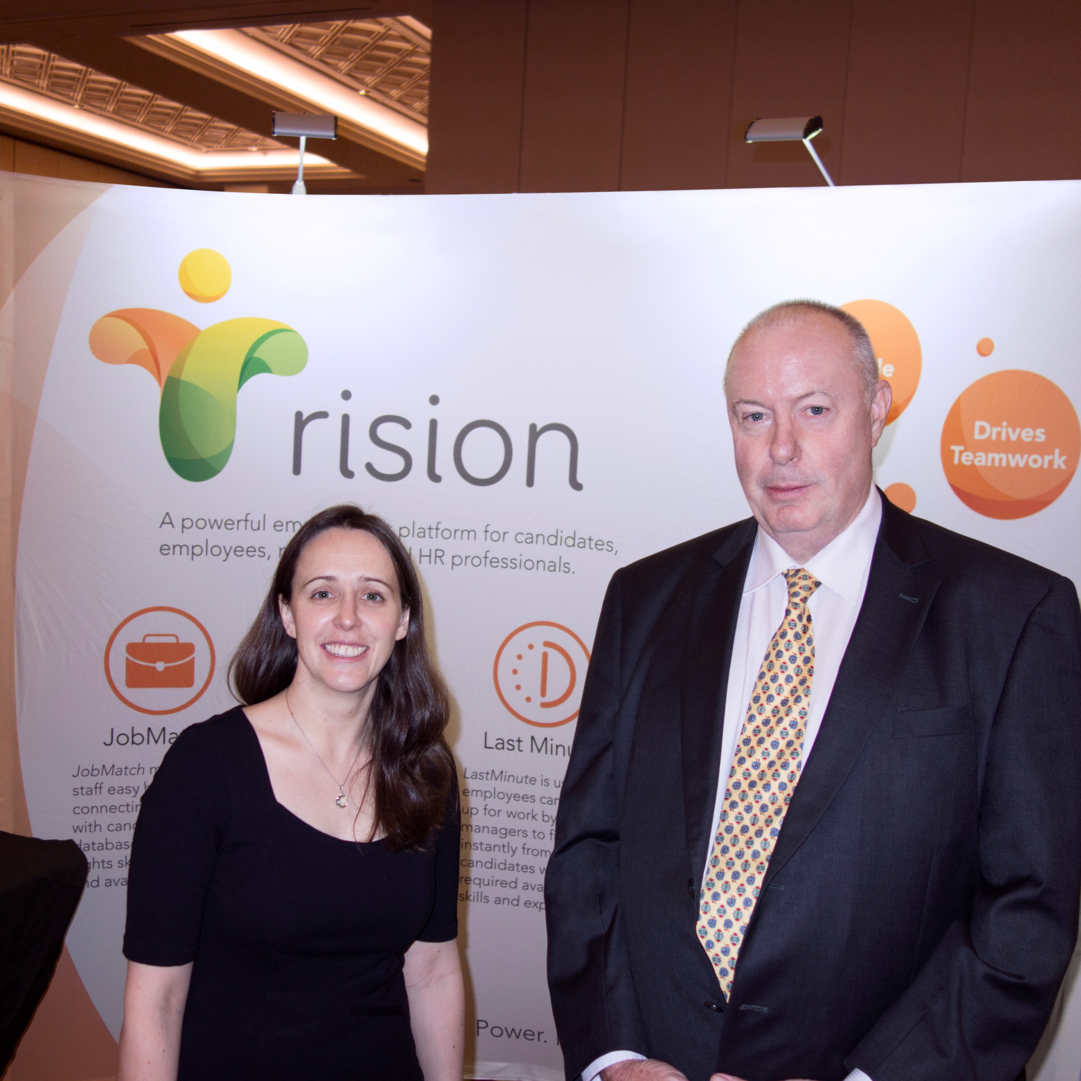 Rision CEO Kate Cornick and founder Robert Day