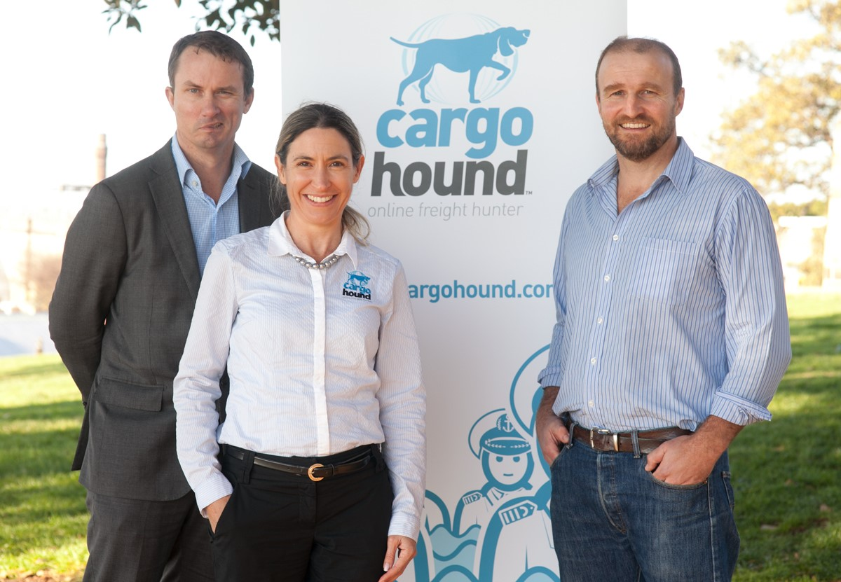 CargoHound co-founders Ian Smith, Kim Mauch and Pete Johnson