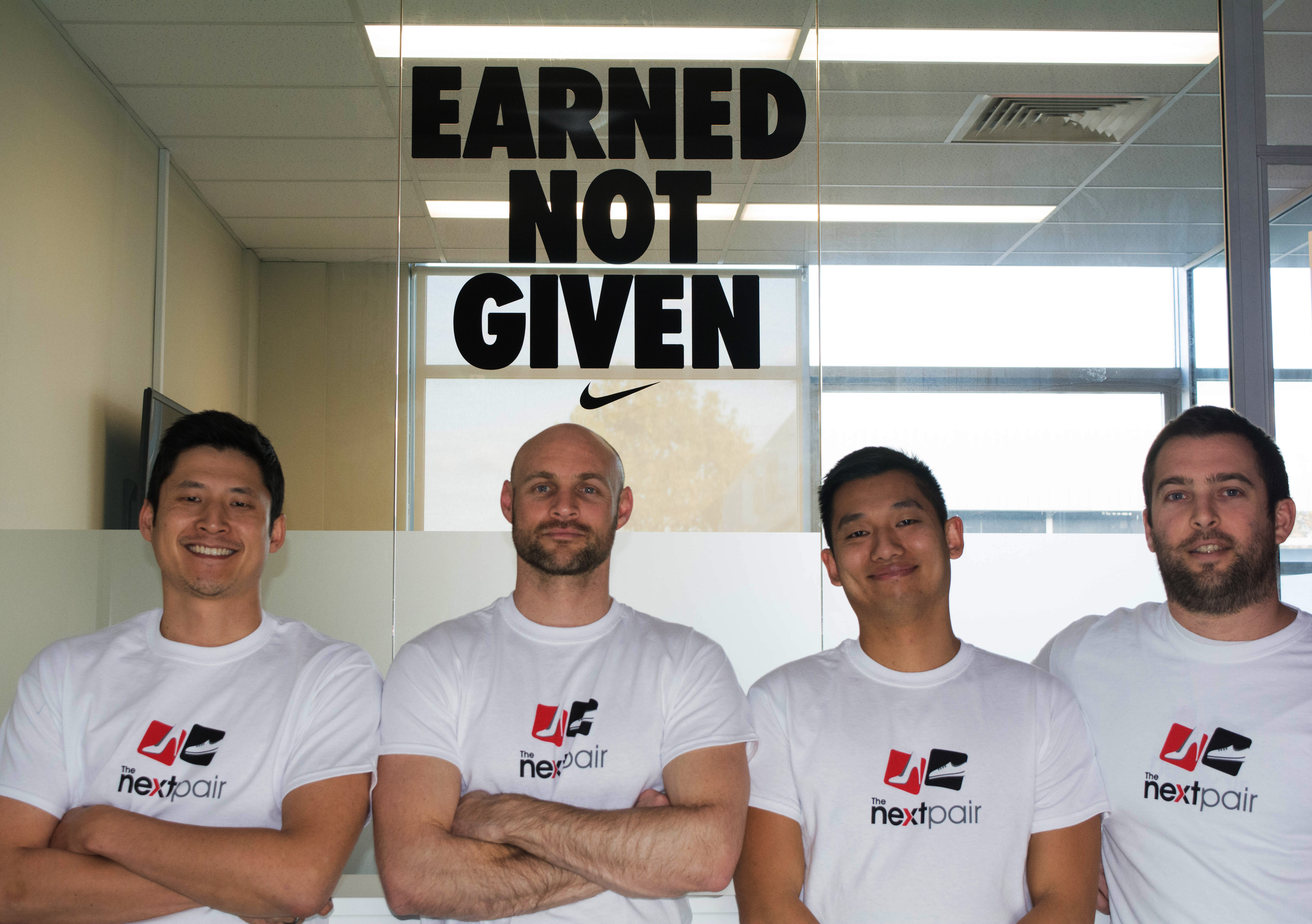 The Next Pair co-founders Alex Hsu, Ryan McClelland, Andrew Wong and Kristopher Hunt