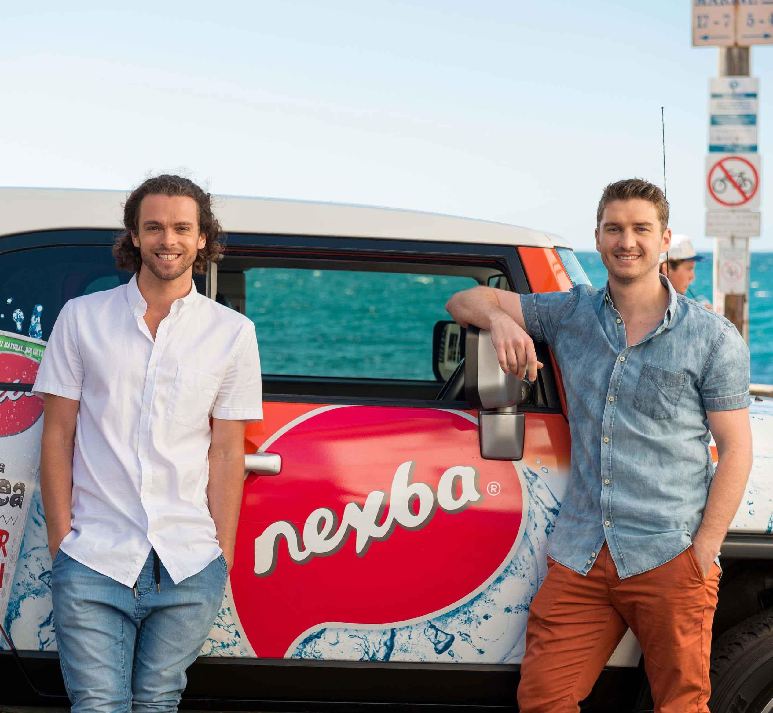 Nexba co-founders Drew-Bilbe-and-Troy-Douglas-Shelley-Beach 3