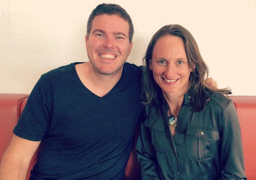 GreenSocks co-founders Richard Eastes and Andrea Martins