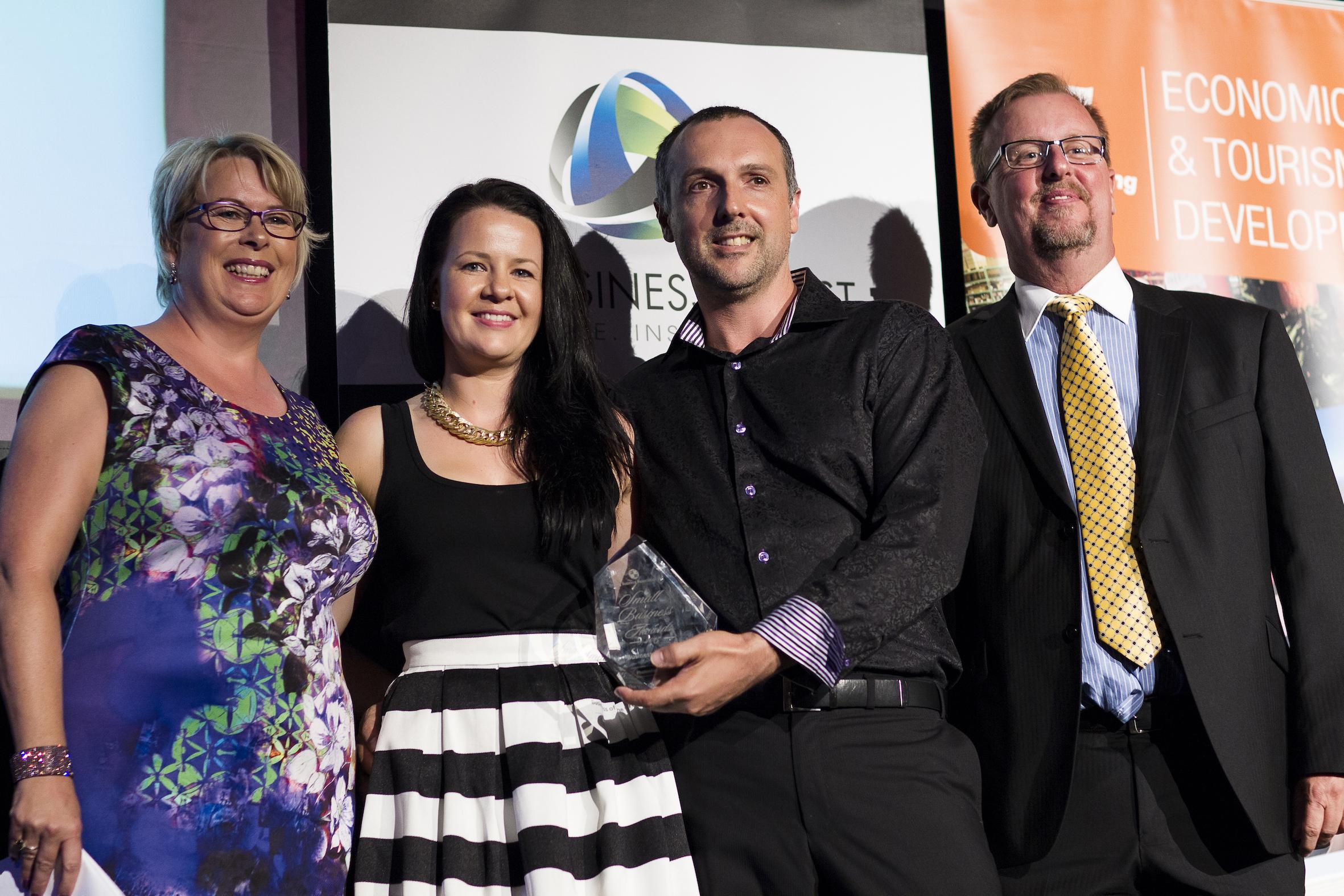 Photosnap accepting their SBA award