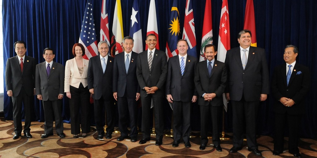 Leaders of TPP member states
