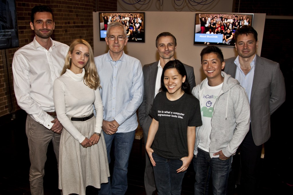 L to R: Vojdan Kardalev (Cyph MD), Emma Poposka (Cyph MD), James Freeman (SkinView), Sam Holt (SkinView), Marita Cheng (Aipoly), Justin Wong (OnCallogist) and Marcus Wilson (Surgical Partners).