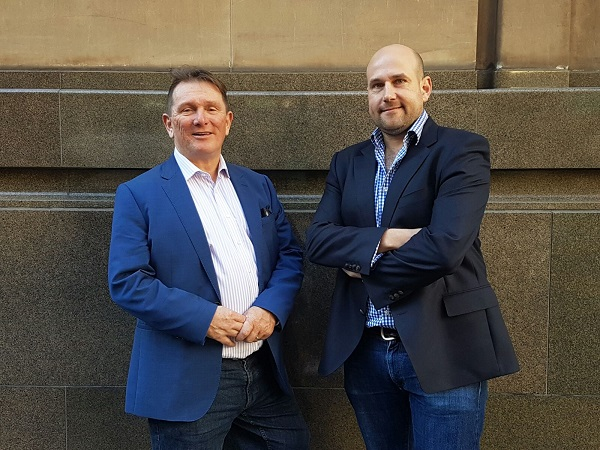 Trevor Townsend (L), MD Startupbootcamp Melbourne and Richard Celm (R)