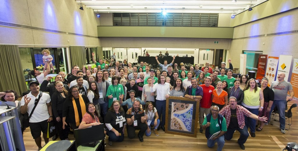 Australia's First Indigenous Startup Weekend participants, August 26 - 28, end of event photo