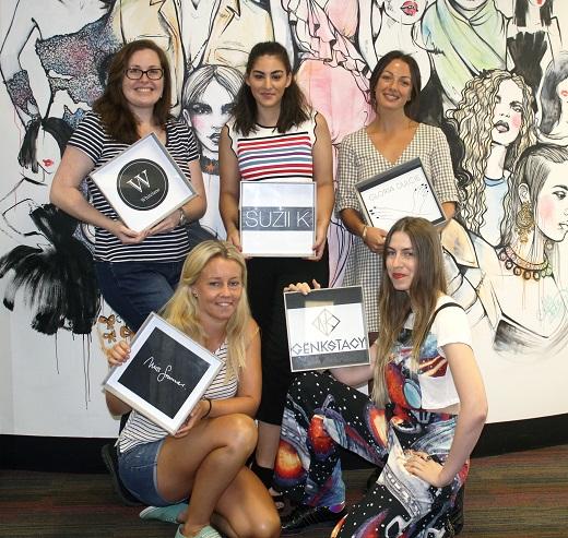 From top left: Lorraine White (White Lane Textiles), Suzanne Knezovic (Suzii K), Alex Coleburn (Gloria Dulcie) From bottom left: Kathrin Bonfigt (Miss Summer), Evie Willsteed (Genkstacy)