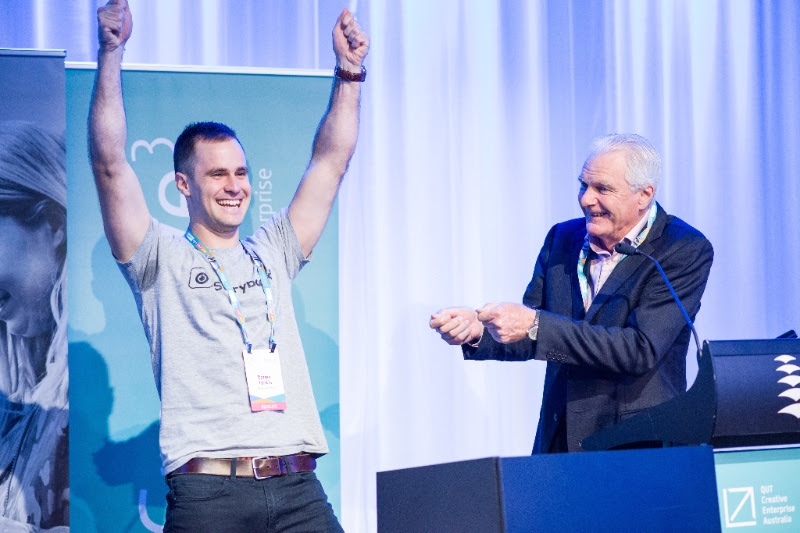 Darren Tonkin from Storyboard Social wins the Creative3 Pitch in 2016