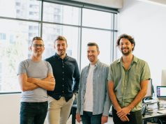 Wrappt founders: Chris Osborne, Nick James, David Steel and Ryan Miller